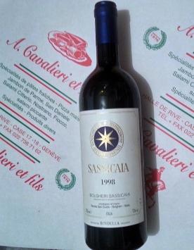 Sassicaia 1998 ( vin Toscan prestigieux et rare)