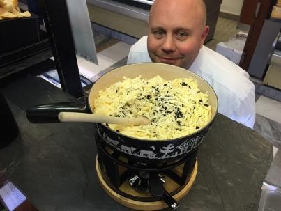 La fondue à la Truffe, chez Bruand bien sûr !